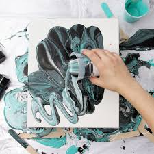 techniques for acrylic pour painting share