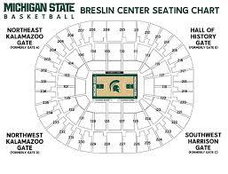 Michigan State University Seating Charts