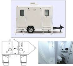 Shower Toilet Combo Combo Restroom And Shower Trailers Portable Toilet Rental Port