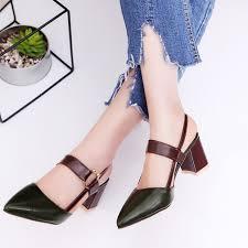 <b>Women Summer Thick</b> Heels Sandals Party Night Club Dress <b>High</b> ...