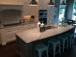 Granite Island Kitchen Vintage White Silver Cloud Granite Island With Dark Base And