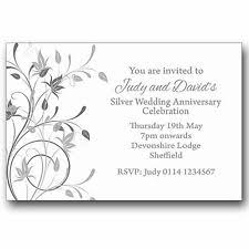 mT5AxSNNxSC_I08GAyFXezQ silver wedding anniversary invitations ebay on silver wedding party invitations