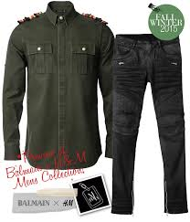 x h m mens collection it s a remake of balmain s best ers and signature looks love the military shirt and many will flock to grab those biker