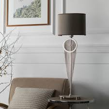 high end swarovski crystal bronze table lamp