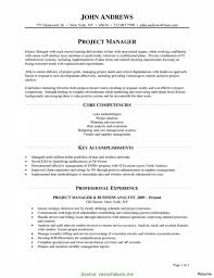 Good Project Manager Resume Key Strengths Construction Manager With