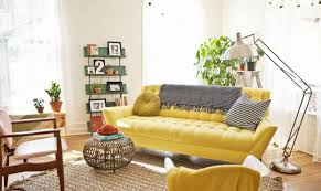 Image Yellow Colour Decoist Yellow Sofa Sunshine Piece For Your Living Room