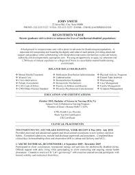 School Nurse Resume Examples New Grad Template Registered Sample Of