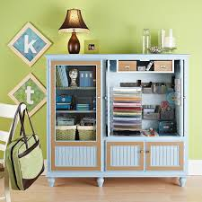 project organized home office armoire. Entertainment Center Craft Supply Station Project Organized Home Office Armoire