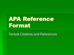 Ppt Apa Reference Format Powerpoint Presentation Id1760145