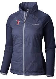 Columbia Boston Red Sox Womens Navy Blue Mach 38 Medium Weight Jacket 2070660