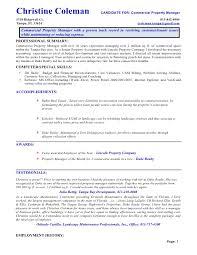 Property Management Resume Template Property Management Resume Co