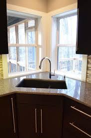 Kitchen Corner Sink Kitchen Corner Window Treatment Ideas Treatments Windows In