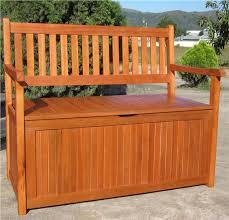 hardwood wooden garden storage bench 2 and 3