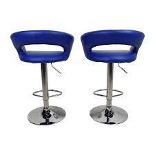 Blue Leather Bar Stools  79 OFF All Modern  Adjustable Blue Leather Bar Stools78