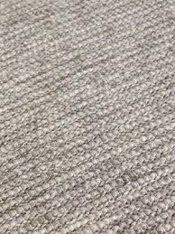 xylo silver grey and natural wool textured flatweave rug
