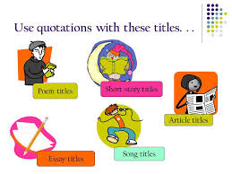title formats nec facet center ppt video online  use quotations these titles