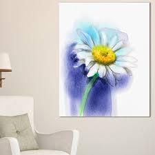 white gerbera daisy in blue large flower canvas wall art on gerbera daisy canvas wall art with shop white gerbera daisy in blue large flower canvas wall art
