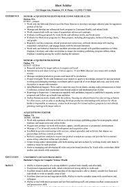 Editor Resume Sample Acquisitions Editor Resume Samples Velvet Jobs 3