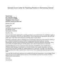 Online Job Cover Letter Job Application Letter Example Teacher