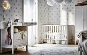 white furniture nursery. Cool Ideas Ikea Nursery Furniture Children S IKEA A Changing Table And Cot In Grey White