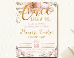 once upon a time invitation etsy Time In Wedding Invitation once upon a time invitation fairytale birthday woodland boho chic time lapse wedding invitation