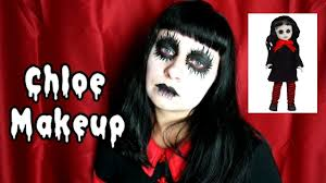 chloe living dead doll inspired makeup