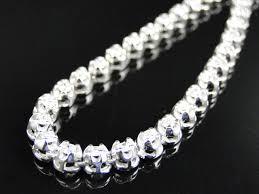 mens g set 1 row genuine diamond chain necklace in 14k white gold
