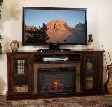 sd 3488dc 70r 70 santa fe rustic birch fireplace tv stand