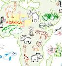 Карта мира раскраска