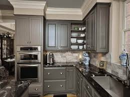 gray painted kitchen cabinet ideas