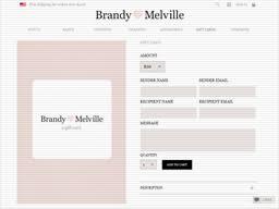 Brandy Melville   Gift Card Balance Check   Balance Enquiry, Links ...