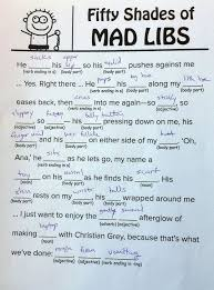 fifty shades of grey mad libs you can your mother 50 shades of mad libs