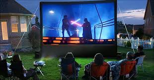 diy projector screen backyard how to set up your own outdoor home theater