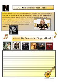 esl celebrities stars famous people worksheets creative writing my favorite singer 8 a1 level