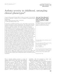 Asthma Severity Chart Pediatric Pdf Asthma Severity In Childhood Untangling Clinical