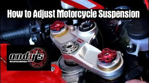 How to Adjust <b>Motorcycle Suspension</b> - YouTube