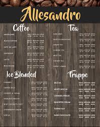 008 Template Ideas Coffee Shop Menu Sensational Word Psd