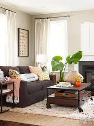 couches for small living rooms. Ways To Decorate With A Brown Sofa Better Homes Gardens Regarding Living Room Ideas Decorations 0 Couches For Small Rooms
