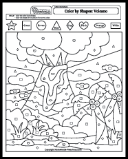 Small Picture Color by Shapes Coloring Pages