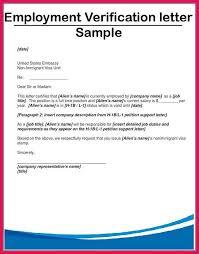 Employment Verification Letter 2 6 Employment Verification Letter