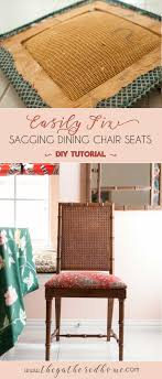 got sagging dining chairs they are totally fixable and this post has all the tools you ll need to tackle this diy