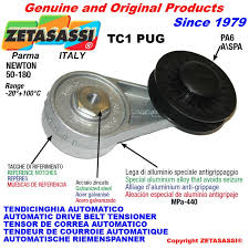 belt tensioner. automatic arm belt tensioner tc1pug with rim pulley newton50:180 belt tensioner