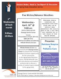 Doctors Note Flyer April Oswego Senior Center