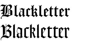 black letter font typography gabby jones as media blog