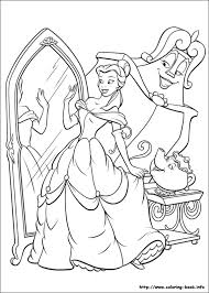 Beauty And The Beast Coloring Pages On Coloring Bookinfo