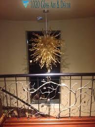 1020 glass art hand blown custom glass chandelier