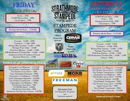Calgary Rodeo Seating Chart Strathmore Stampede Strathmore Ag Society