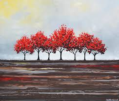 red painting unity red trees by christine krainock