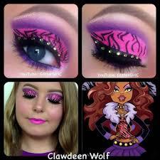 tutorial for middot monster high clawdeen wolf makeup look you channel s you user glitterc clawdeen