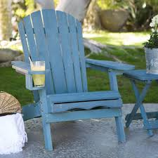 get quotations c coast big daddy adirondack chair with pull out ottoman and cup holder blue stained